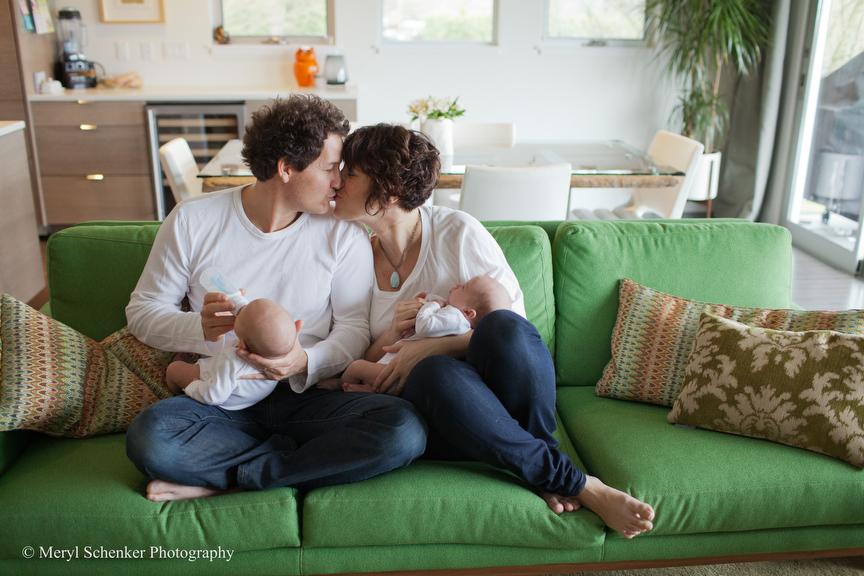 Graysen and Kaia, 9 weeks