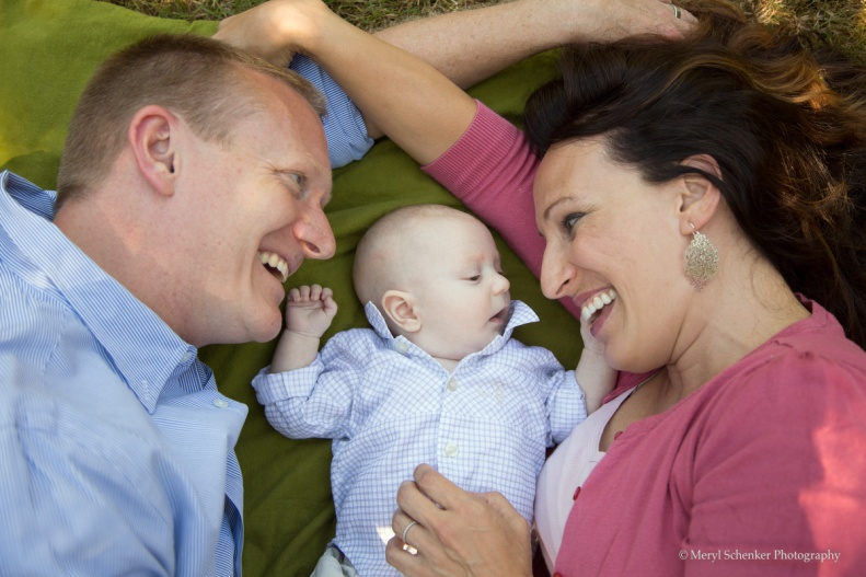 Adrienne and Reid and Jack (3months)